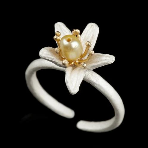Single Orange Blossom Ring