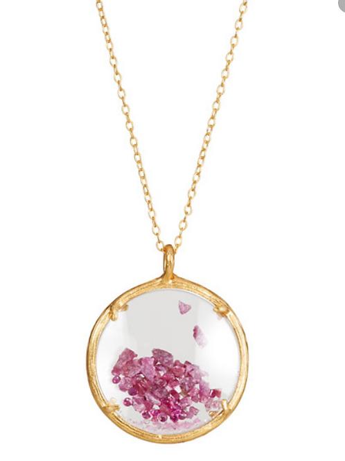 Large Ruby Shaker Necklace