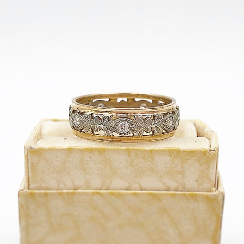 White & Yellow Gold Diamond Band