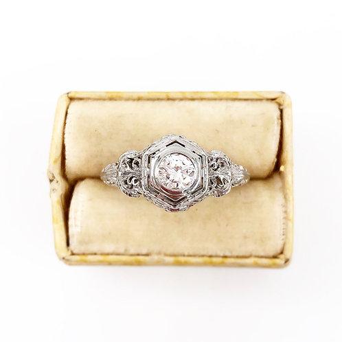 Antique Filigree Diamond Ring