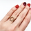 Thumbnail: Open Bezel Set Diamond Ring