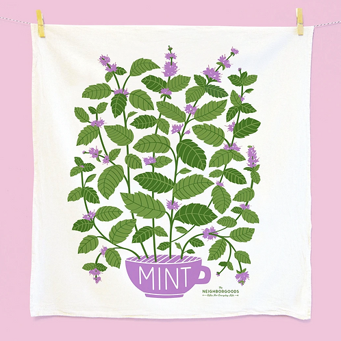Mint Herb Dish Towel
