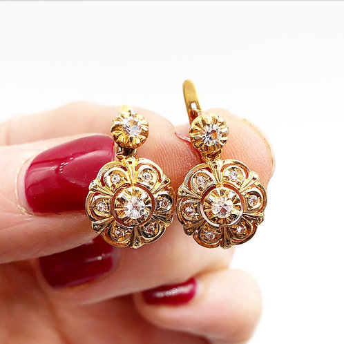 1900-1910's French Paste Earrings