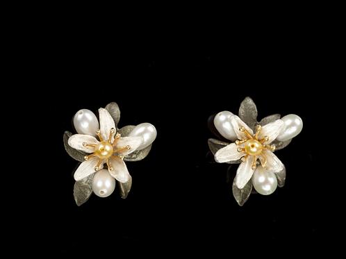 Orange Blossom Post Earrings