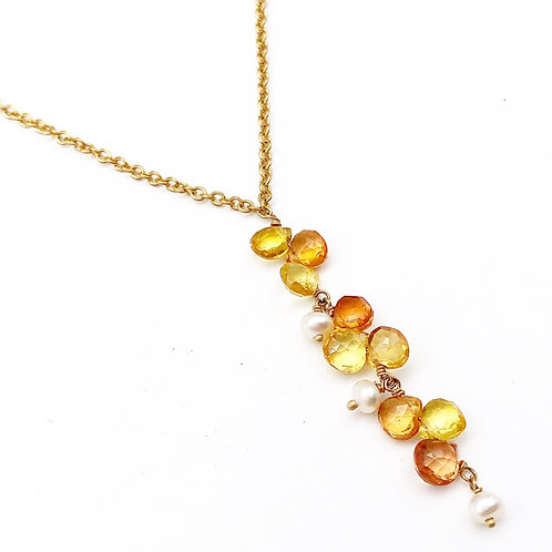 18k Sapphire & Pearl Necklace
