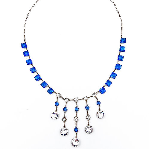 """Something Blue"" Crystal Necklace"