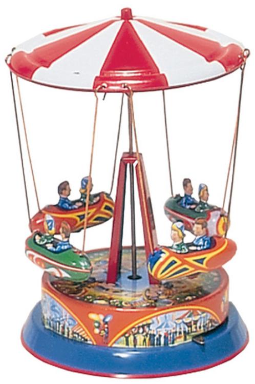 Space Carousel Tin Toy