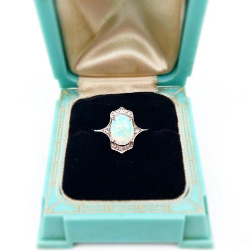 Art Deco Opal & Diamond Ring