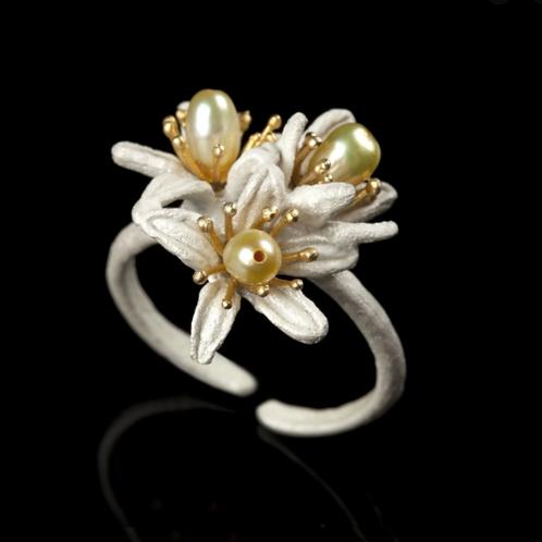 Triple Orange Blossom Ring