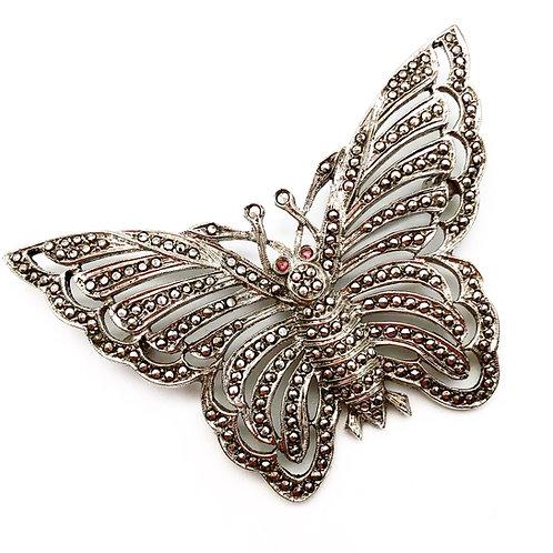 Art Deco Marcasite Butterfly Brooch