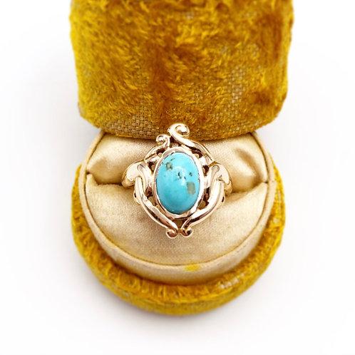 Rare Art Nouveau Turquoise Ring