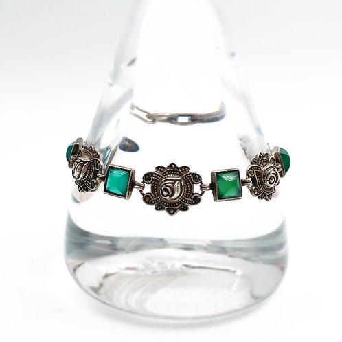 1930's Chalcedony & Rose Bracelet