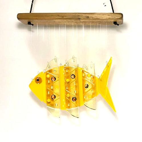 Yellow Fish Wind Chime