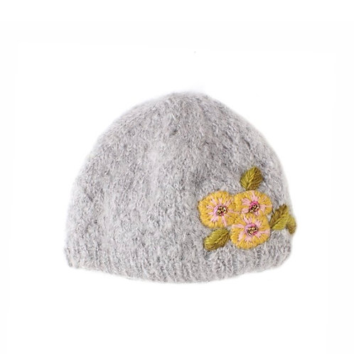 Snow Flower Cloche Hat