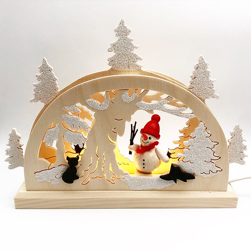LED Snowman Arch