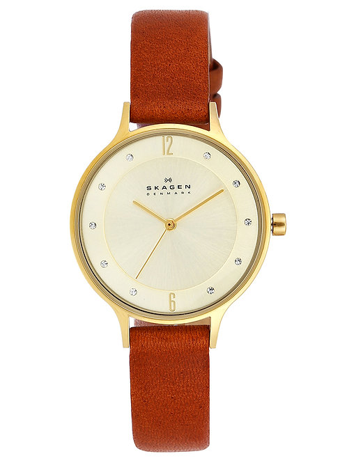 Women's Brown Leather Band Watch