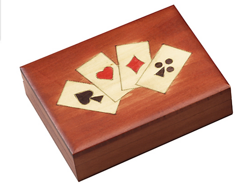 Four Suits Playing Cards Box