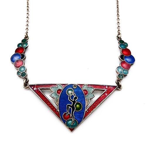 Art Deco Enamel Necklace