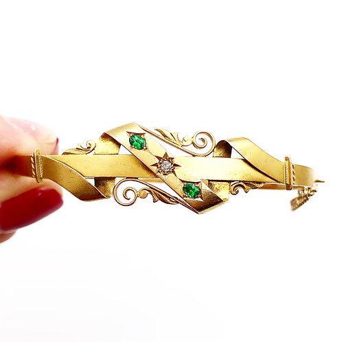 Diamond & Green Garnet Bracelet