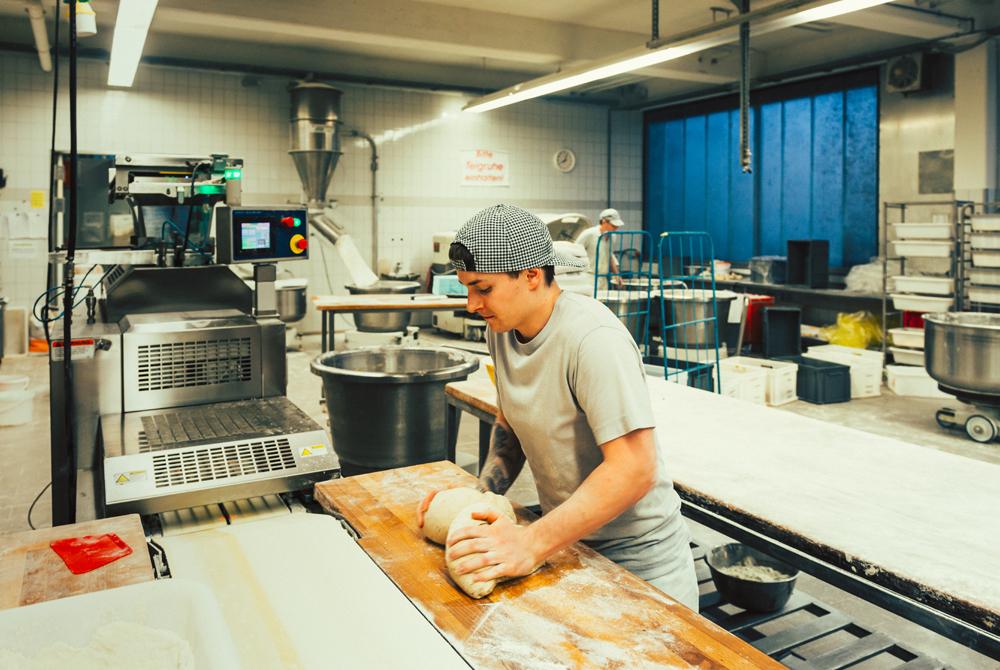 Bäckerlehrling Produktion