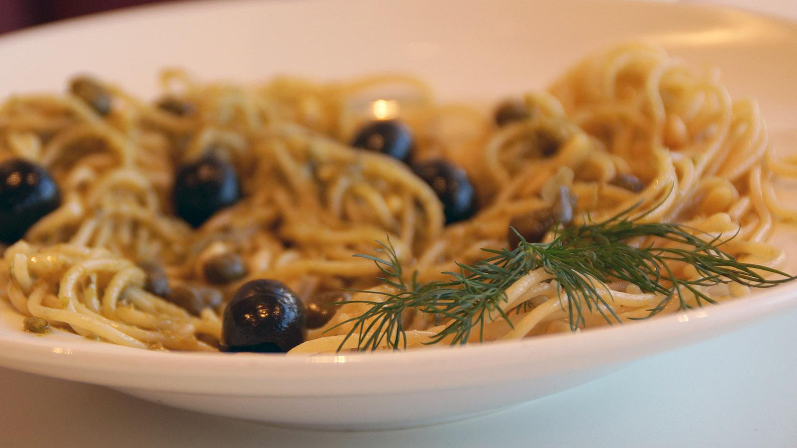 Spaghetti mit Oliven