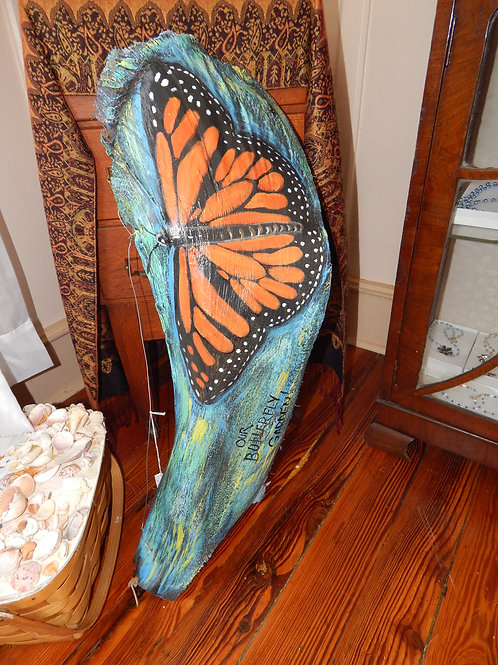 "Butterfly Palm Frond - 33"" wide x 11"" high"