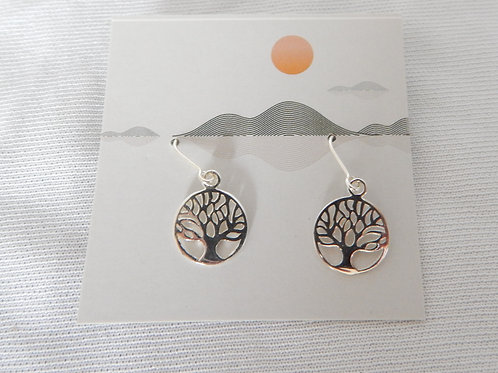 Earrings - E016 - Sterling Silver Tree of Life - Classic Makings