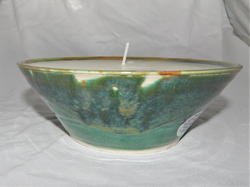 Handmade Pottery with Candle - Cedarwood & Lavender- CC106