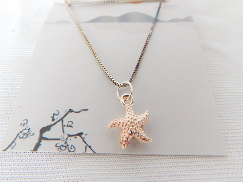 """Necklace - P026 - Sterling Silver 16"""" Starfish - Classic Makings"""