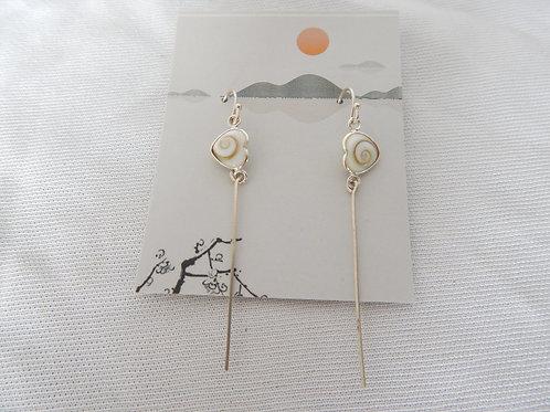 Earrings - E011 - Heart Shaped Shell Sterling Silver - Classic Makings