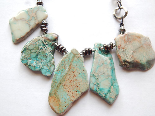 Necklace - Imperial Jasper Slabs - Muggie Jewelry