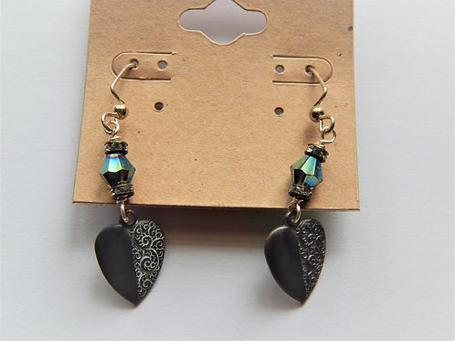 Earrings - Item E41 - Small Heart - Muggie Jewelry