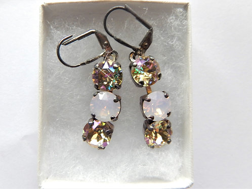 Earring - Yellow / Pink Swarovski Crystal - The Sparkling Thistle