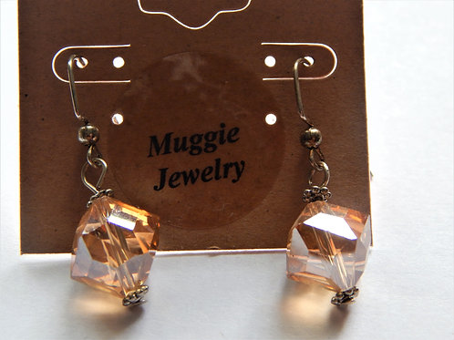 Earrings -  Topaz Crystal -  Item E24 - Muggie Jewelry