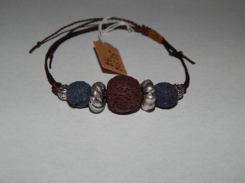 Bracelet - B41- Adjustable Lava Stone - Muggie