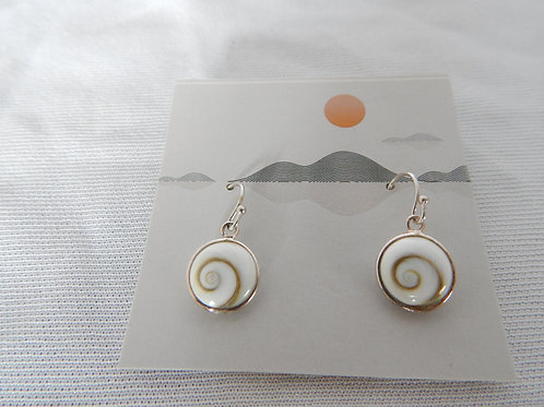 Earrings - E014 - Swirl Shell with Sterling Silver - Classic Makings