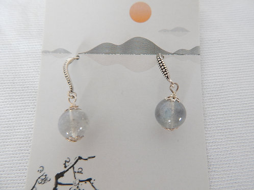 Earrings - E034 - Natural Stone Sterling Silver Wired - Classic Makings
