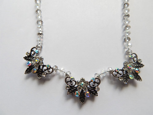 Necklace - Smoky Leaf (3) Butterfly Shape - The Sparkling Thistle