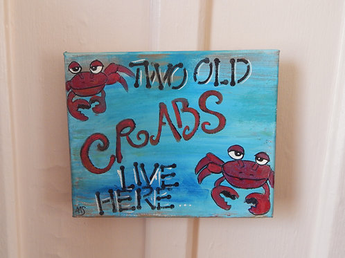 "Two Old Crabs - 10"" x 8"" - Alberta Sulik"