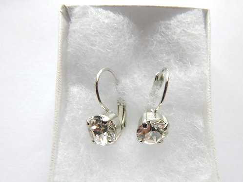 Earrings -Clear Swavorski Crystal - The Sparkling Thistle
