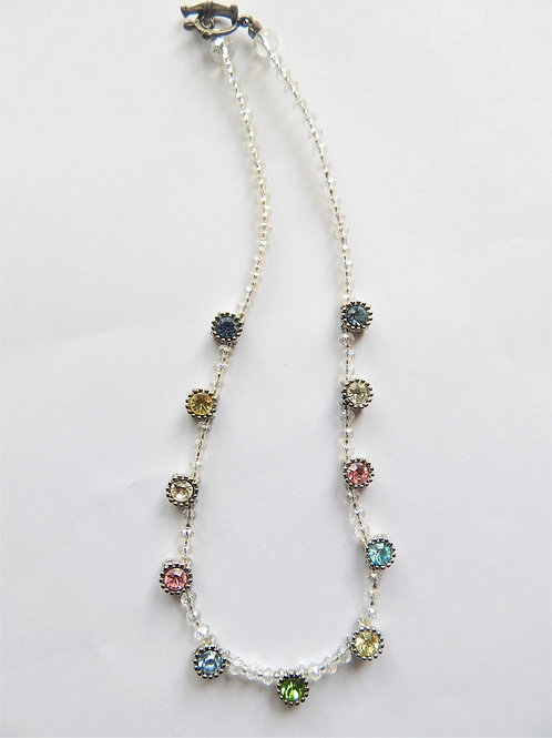 "Swarovski ""Rainbow"" 11 Stone Necklace - The Sparkling Thistle"