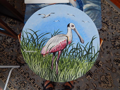 "Roseate Spoonbill Insulated Cooler / Basket - 12"" x 16"""