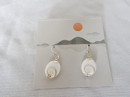 Earrings - E013 - Swirl Shell with Sterling Silver - Classic Makings