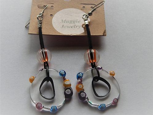 Earrings - Item E51 - Large Furnace Glass - Muggie Jewelry
