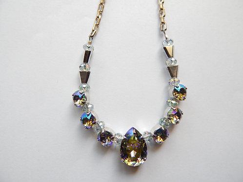 Swavorski - Smoky Crystal Necklace - The Sparkling Thistle