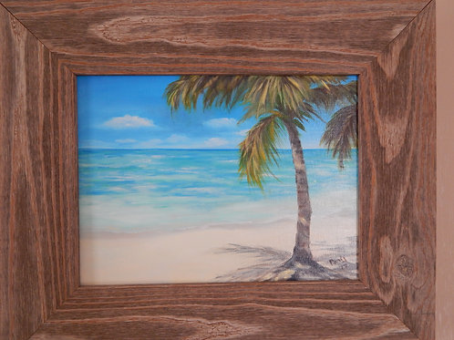 """Palm & Shadow"" - Original Art - Oil on canvas - Paris Milliken"
