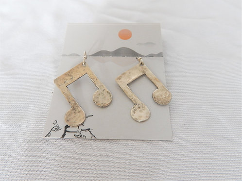Earrings - E027 - Sterling Silver Music Notes - Classic Makings