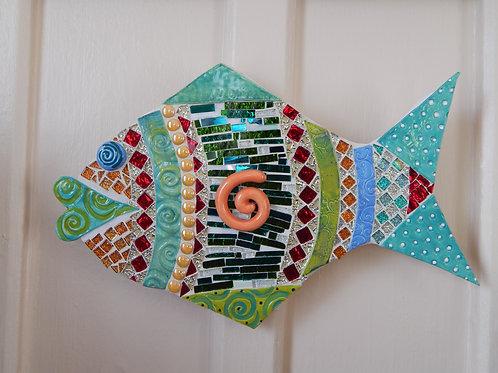 "Tiled Fish Wall Art - 9"" x 15"" - MaryAnne Mason"