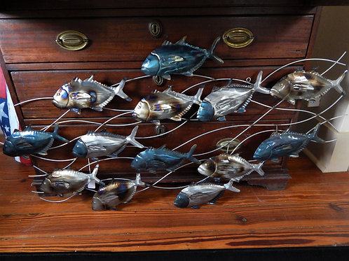 13 Fish Metal Art