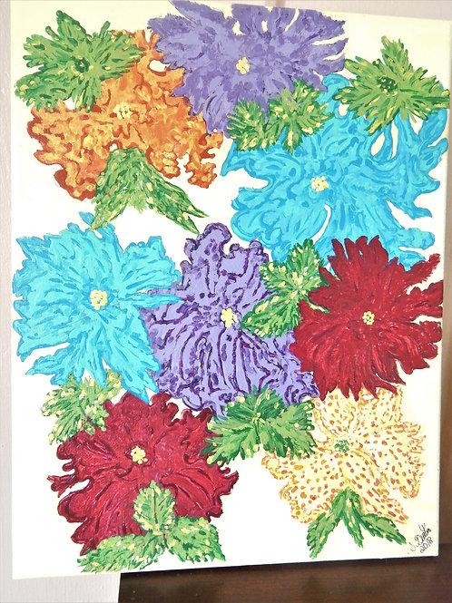 Flowers Canvas Art - Susan Guertin